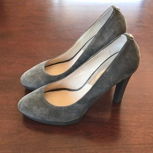 Grey suede michael Kors pumps size 10